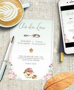 Convite Chá de Cozinha ou Identidade Visual - Floral Primavera [Artes Digitais]