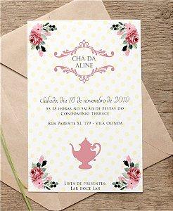 Convite Chá de Cozinha ou Identidade Visual - Delicado [Artes Digitais]