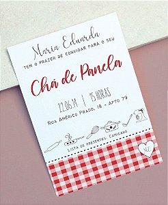 Convite Chá de Cozinha ou Identidade Visual - Xadrez Vermelho [Artes Digitais]