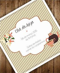 Convite Chá de Cozinha ou Identidade Visual - Floral Laranja [Artes Digitais]