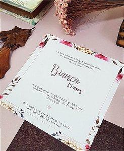 Convite de 15 Anos ou Identidade Visual - Floral Rosé [Artes Digitais]