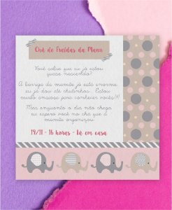 Convite Chá de Bebê ou Identidade Visual - Elefantinho [Artes Digitais]