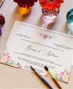 Convite de Casamento ou Identidade Visual - Floral Primavera [Artes Digitais]