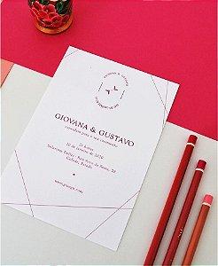 Convite de Casamento ou Identidade Visual - Rosa Moderno [Artes Digitais]