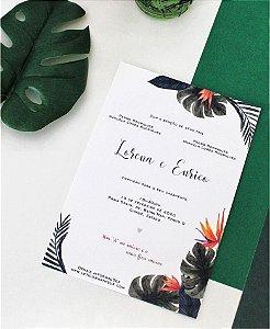 Convite de Casamento ou Identidade Visual - Folhagens Praia [Artes Digitais]