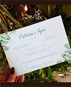 Convite de Casamento ou Identidade Visual - Folhagens Clássico [Artes Digitais]