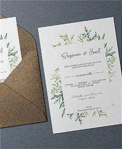 Convite de Casamento ou Identidade Visual - Folhagens Moderno II [Artes Digitais]