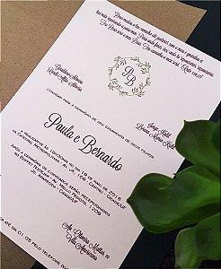 Convite de Casamento ou Identidade Visual - Brasão Folhagens [Artes Digitais]