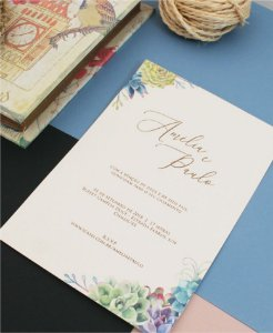 Convite de Casamento ou Identidade Visual - Suculenta [Artes Digitais]