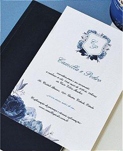 Convite de Casamento ou Identidade Visual - Azul Imperial [Artes Digitais]