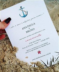 Convite de Casamento ou Identidade Visual - Praia Âncora [Artes Digitais]