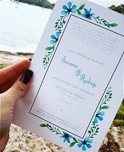 Convite de Casamento ou Identidade Visual - Praia Floral [Artes Digitais]