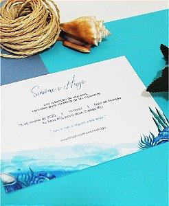 Convite de Casamento ou Identidade Visual - Praia Conchas [Artes Digitais]