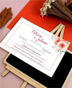 Convite de Casamento ou Identidade Visual - Coral Pantone 2019 [Artes Digitais]