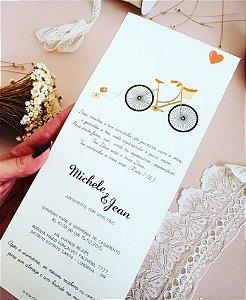 Convite de Casamento ou Identidade Visual - Vintage Bicicleta [Artes Digitais]