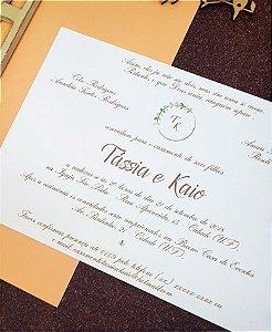 Convite de Casamento ou Identidade Visual - Floral Salmão [Artes Digitais]