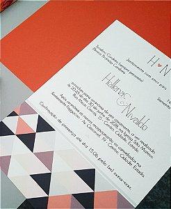 Identidade visual: artes avulsas, kits ou convite de casamento - geométrico triângulo [artes digitais]