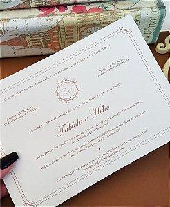 Convite de Casamento ou Identidade Visual - Clássico Delicado [Artes Digitais]