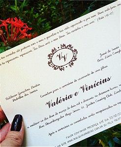 Convite de Casamento ou Identidade Visual - Clássico Marrom [Artes Digitais]