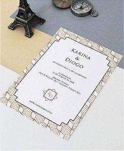 Convite de Casamento ou Identidade Visual - Geométrico Dourado [Artes Digitais]