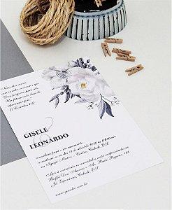 Convite de Casamento ou Identidade Visual - Branco Acinzentado [Artes Digitais]