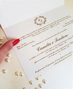 Convite de Casamento ou Identidade Visual - Clássico Dourado Brasão [Artes Digitais]