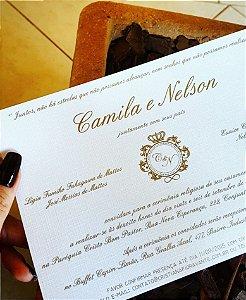 Convite de Casamento ou Identidade Visual - Clássico Renda [Artes Digitais]
