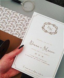 Convite de Casamento ou Identidade Visual - Moderno Arabescos [Artes Digitais]