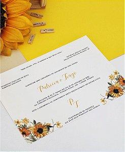 Convite de Casamento ou Identidade Visual - Girassol Delicado [Artes Digitais]