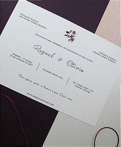 Convite de Casamento ou Identidade Visual - Floral Beterraba [Artes Digitais]
