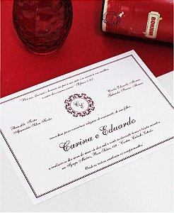 Convite de Casamento ou Identidade Visual - Clássico Vermelho [Artes Digitais]