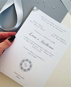 Convite de Casamento ou Identidade Visual - Clássico Cinza [Artes Digitais]