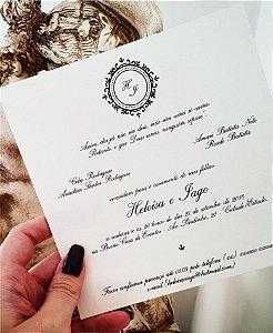 Convite de Casamento ou Identidade Visual - Clássico Quadrado [Artes Digitais]