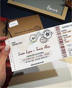 Convite de Casamento ou Identidade Visual - Passagem Aérea [Artes Digitais]