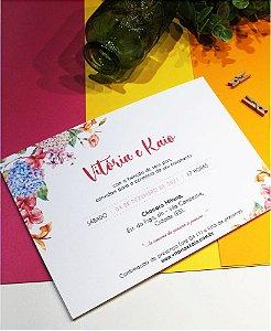 Convite de Casamento ou Identidade Visual - Floral Colorido [Artes Digitais]