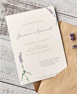 Convite de Casamento ou Identidade Visual - Lavanda Minimalista [Artes Digitais]