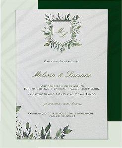 Convite de Casamento ou Identidade Visual - Brasão Folhagens III  [Artes Digitais]