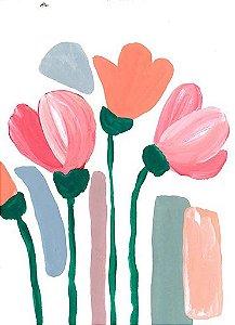 Papel de Parede Ciranda de Flores