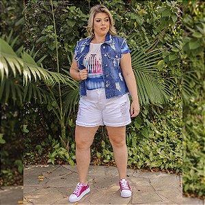 Colete Jeans Pluz Size