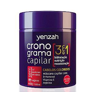 YENZAH CRONOGRAMA CAPILAR 3 EM 1 CABELOS COLORIDOS 480G