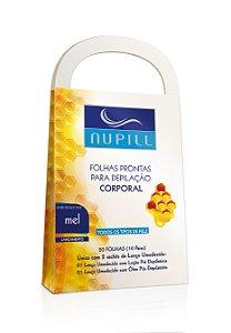 NUPILL FOLHAS PRONTAS P/ DEPILAÇÃO CORPORAL C/20