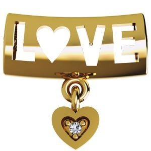 Pingente Separador Love em Ouro Amarelo 18K com Brilhante
