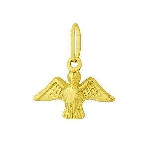 Pingente Espírito Santo em Ouro Amarelo 18K
