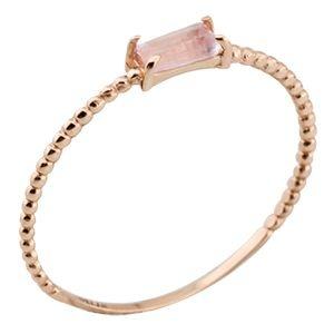 Anel Dreams com Aro de Bolinhas em Ouro Rosê 18k com Quartzo Rosa