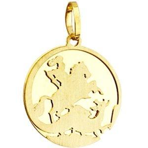 Pingente São Jorge em Ouro Amarelo 18K