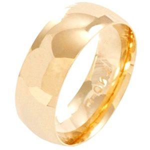 Aliança Meia Cana em Ouro Amarelo 18k - Confort