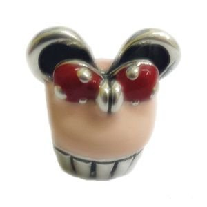 Berloque Cupcake Minnie em Prata 925 com Resina - Linha Dreams