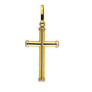 Pingente Cruz em Ouro Amarelo 18k-750 - Tamanho Pequeno