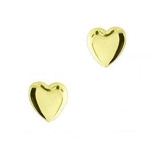Brinco Mini Coração de 4mm em Ouro Amarelo 18k