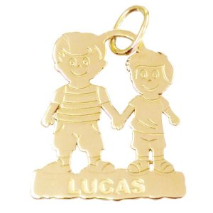 Pingente Pai e Filho em Ouro Amarelo 18k